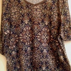 Catherines Multi color & Design3/4 Sleeve Top